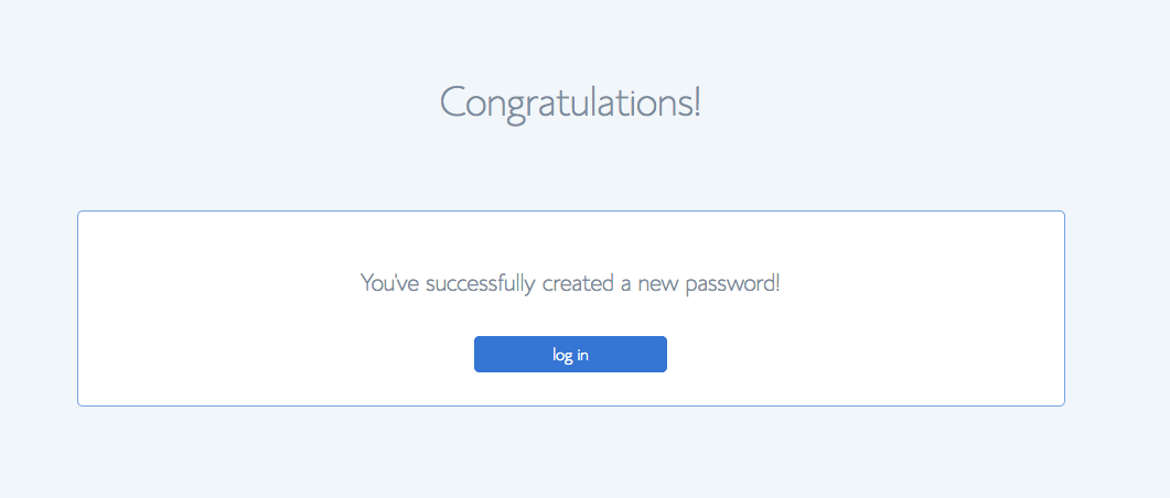 Screenshot of Bluehost Password Correct Page